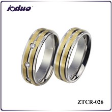 Wholesale 2015 titanium steel rings cam plating 18 k gold rings couple jewelry