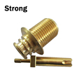 High precision OEM brass parts with CNC machining and machinofacture for industry