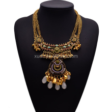 Hot sale stylish indian gold necklace designs fashion handmade statement necklace for women