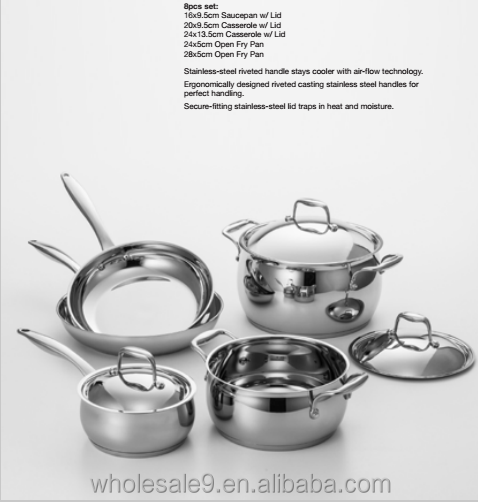 New Products 2017 Kitchen Accessories Stainless Steel Cookware Set / Cooking Pot / Stock Pot Set