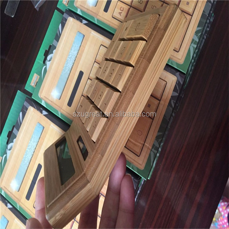 China wholesale mini wooden cheapest bamboo calculator