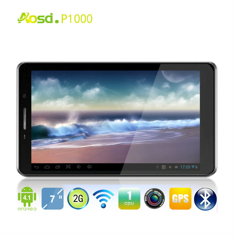 Smart Pad Android 4.0 Tablet PC P1000 bluetooths dual sim card call with replaceable battery