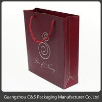 High-End Handmade Customized Retail Cheap Fancy Christmas Paper Gift Bags
