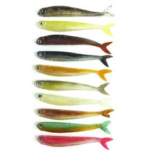 30 Pcs/Pack soft bait 10 colors fishing tackle 8.9CM/3.1G fishing lures Soft lures