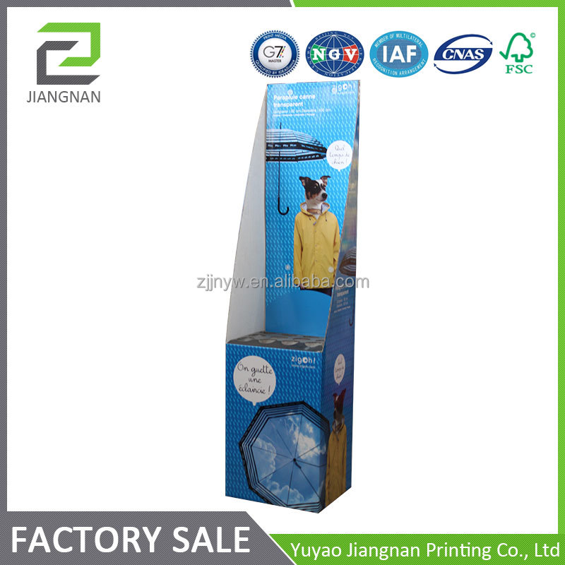 Factory supplier paper counter display cardboard counter display stands