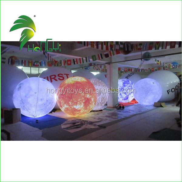 Inflatable Planet Model with LED Light / Hongyi Inflatable Planet Ball with Light / Planet Shaped Balloons