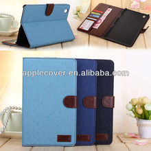 Jean Leather Wallet Case For Samsung Galaxy Tab Pro 8.4 T320
