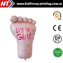 [HOT] Girl Baby Feet Foil Balloon Decor Baby Shower Helium Balloons