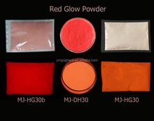 Red Color Photoluminescent Pigment /Red Glow In The Dark Pigment Powder