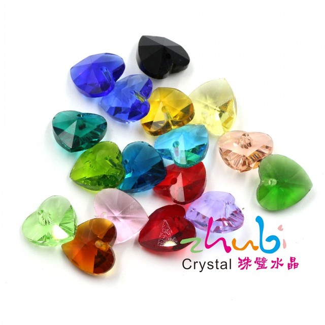 Crystal charm heart pendant for earring,diy jewelry,pendant wholesale pendant jewelry