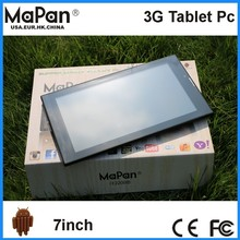 MaPan Hot sale!! 7 inch 1024*600 Android Tablet 7 inch display 3G phone call tablet android with dual sim card