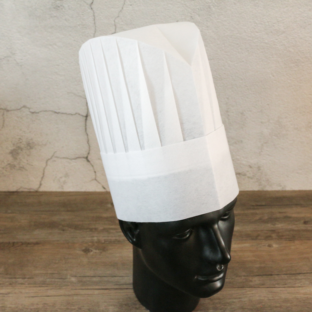 disposable non woven oval top chef hat