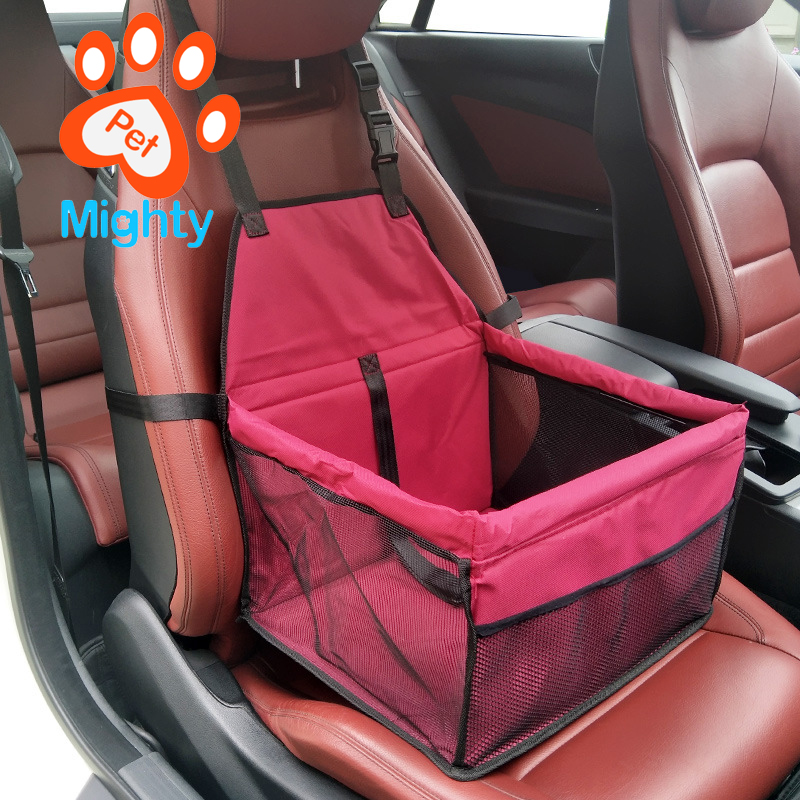 Portable Fordable Cat Puppy Dog Booster Car Seat Travel Bag Cage Kennel