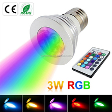 High Power Factor E27 Remote Control 16 Color RGB Bulb led color lights