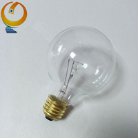 Alibaba China G80 clear glass edison bulb 60w incandescent tungsten lamp e26 130v traditional lamp