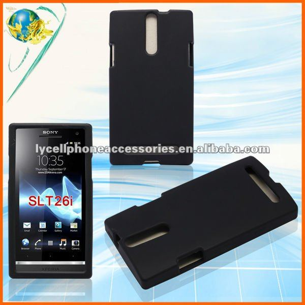 NEW Black Silicone Gel Cover Skin Case For Sony Xperia S LT26i Accessories Supplier Mobile Phone Rubber Case