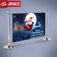 Hot Sale Stainless Steel Queue Barrier Poles Advertising Banner Christmas Car Parking Barriers