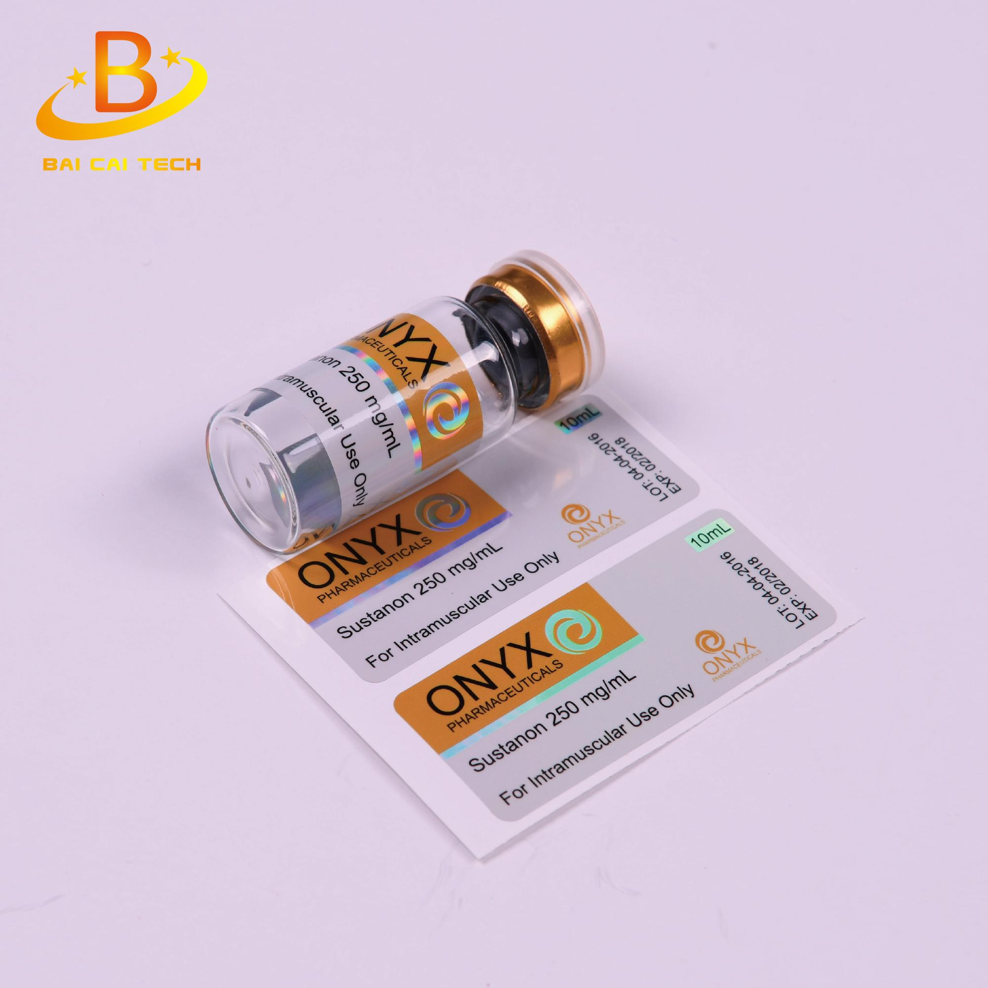2018 Cheap price customize medicine bottle packaging 10ml vial label sticker