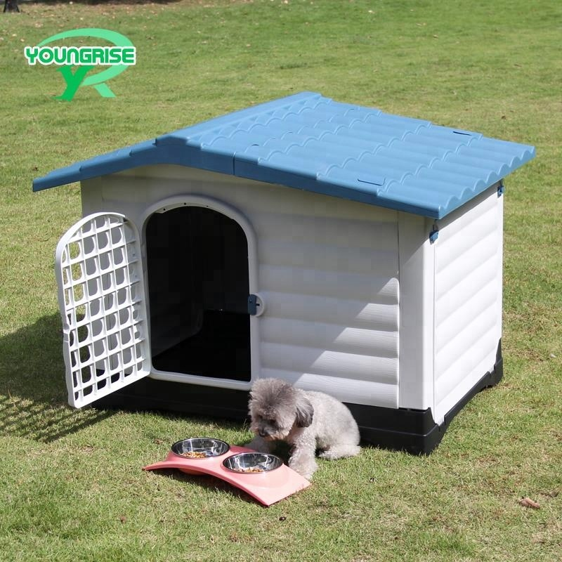 cheap big dog house plastic dog kennel large outdoor for sale