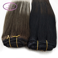 Double weft 200g clip in hair extension human hair extensions unprocessed clip in hair extensions for white