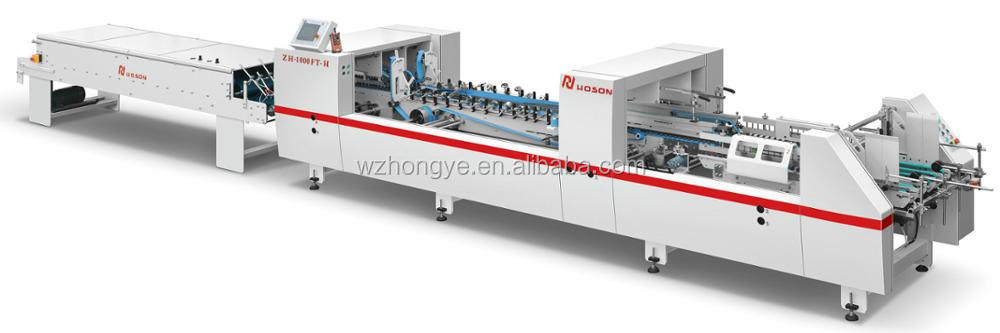 ZH-1000FT-H Corrugated and Cardboard Box Automatic Folding Gluing Machine