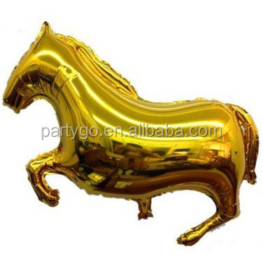 Wholesale gold horse helium foil balloon,inflatable balloon 65*43cm