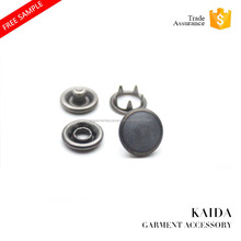 KAIDA matte black pearl Nickel-free metal five prong snap button for clothing