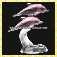 Exquisite Pink Crystal Couples Dolphins For Wedding Souvenirs