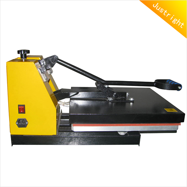 New Products pneumatic up-sliding double station heat press machine durable roller flat transfer