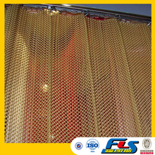 Metal Coil Drapery For Hotel Ceiling,Fireplace Mesh Curtain