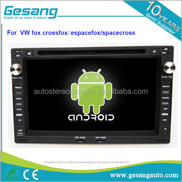 1080P HD capacitive touch screen car radio for VW fox/crossfox/espacefox/spacecross with 4g wifi