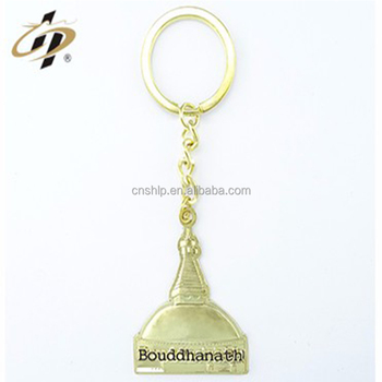 Wholesale custom zinc alloy gold hats brand name logo souvenir keychains