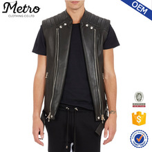 Custom Motorcycle Leather Vest Wholesale