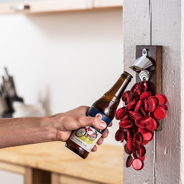 NT-BC01 Wall mounted bottle opener and cap catcher with customized logo