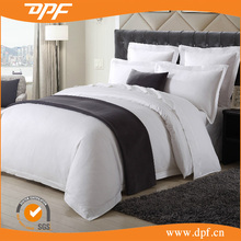 polyester hotel bed runner and bed throw for hotel