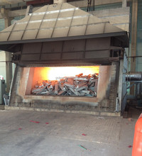 gas fired rectangle aluminum ingot industrial melting furnace