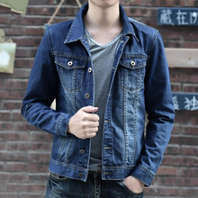 DL10120D 2017 new stylish fashion men's denim jackets coat jean jacket for men