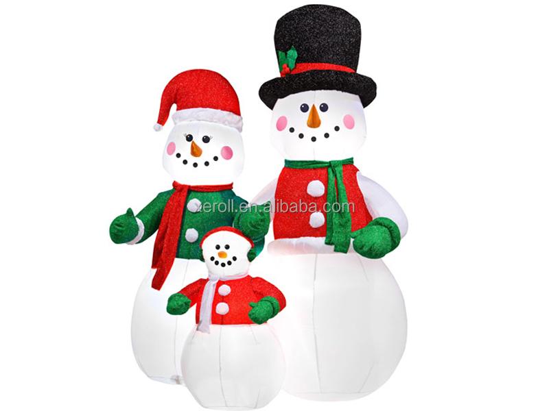 Outdoor inflatable christmas snow man santa claus