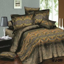 Fashion vintage 3D king size comforter 100 cotton bed sheets