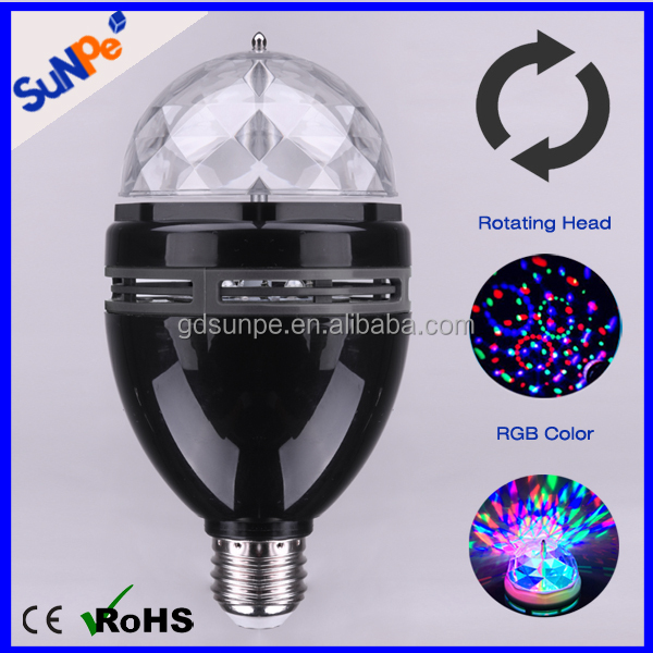 Smart Self-Rotating LED Disco Light Bulb For Party Funny Decoration