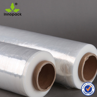 Transparent LLDPE stretch film for packaging