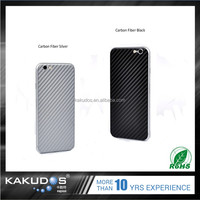OEM removable back carbon fiber skin sticker for iphone 6/6 plus/6s / 6s plus