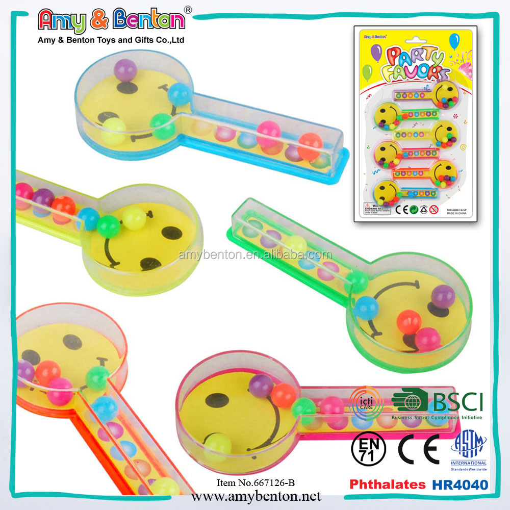 promotion plastic 3d mini toys face wave beads for kids