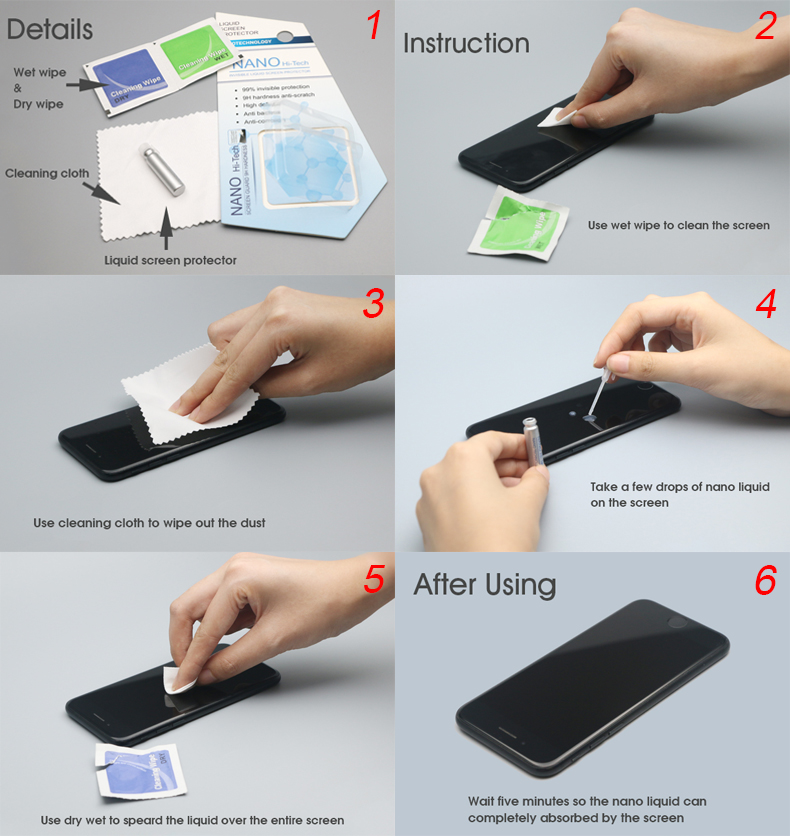 Original Factory Sunqt screen protector nano liquid for cellphone and laptop consumer electronics