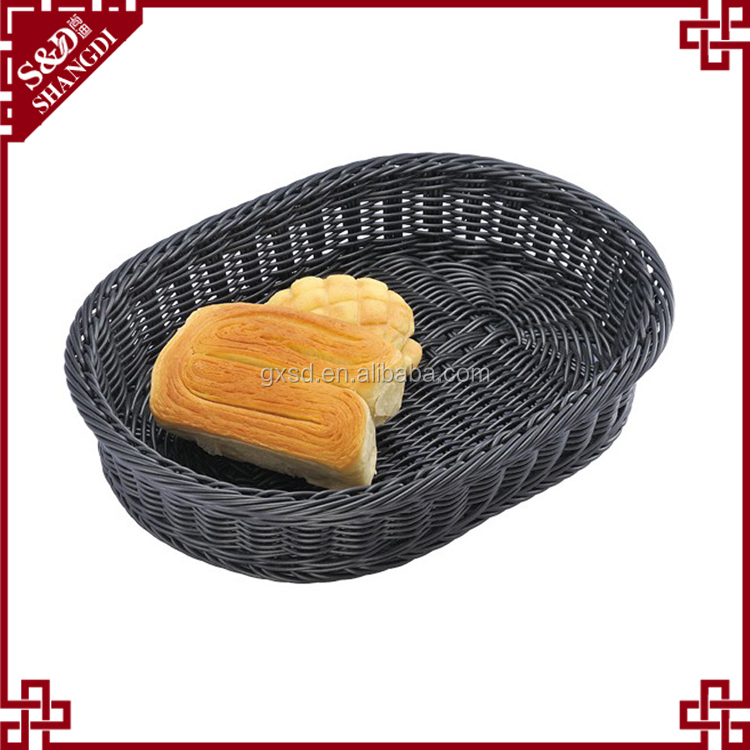 100% hand made food grade oval shape PE rattan proofing bread basket