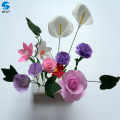 Custom size handmade large flowers decoration paper artificial flowers for sale