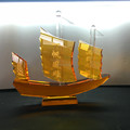larger crystal sailboat for hotel decoration