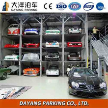 4 post car stacker steel structure car parking system used hydraulic car lift
