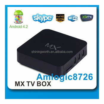HD XBMC 1080P Dual Core Amlogic 8726 mx Android 4.2 TV BOX