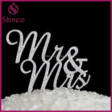 Letter Mr&Mrs rhinestone cake topper for wedding decoration party supplies